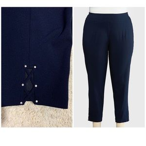 Cato pull on slim ankle pant, navy, 26/28,
